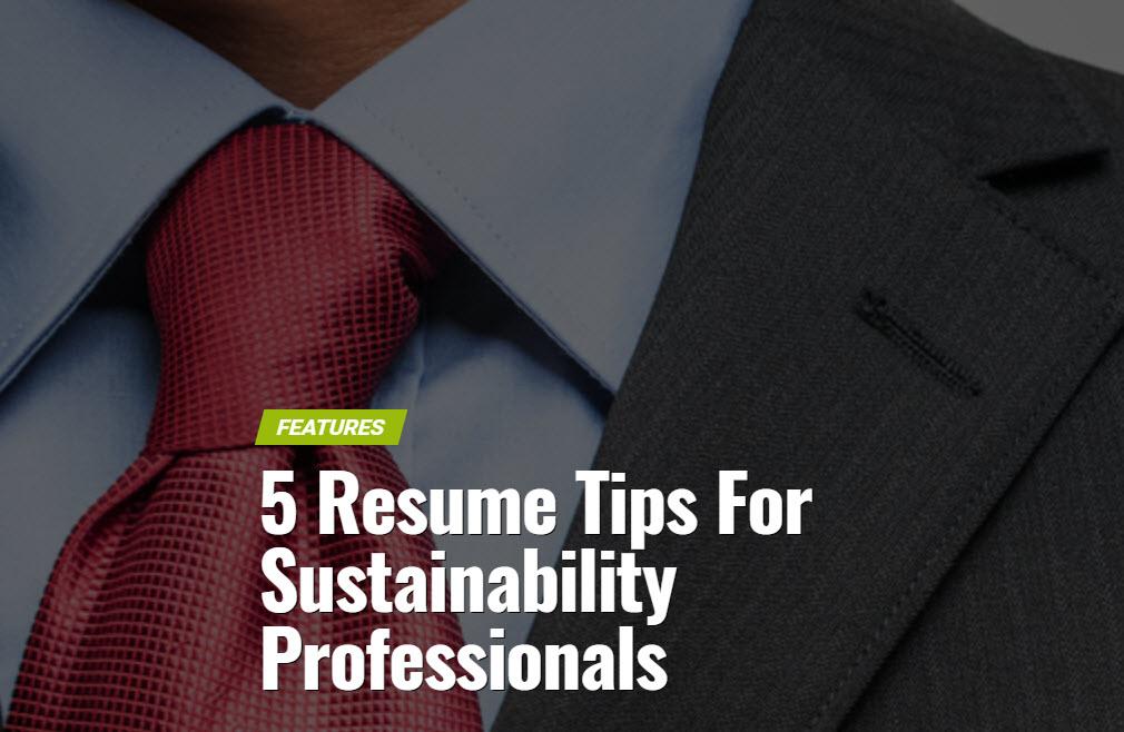 5 resume tips